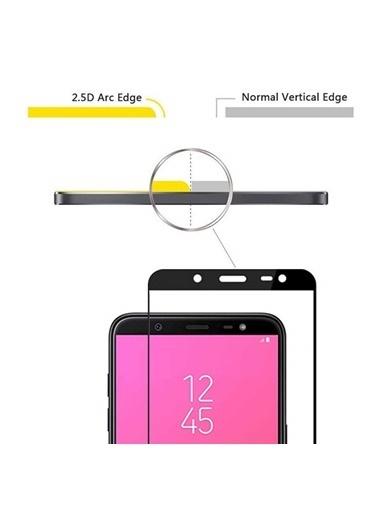 Microsonic Samsung Galaxy J8 Tam Kaplayan Temperli Cam Ekran Koruyucu Kırılmaz Film  Siyah